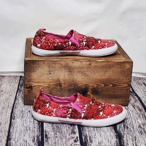 Isaac Mizrahi Red & Pink Slip On Shoes Size 9
